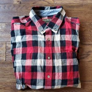 EDDIE BAUER NWOT Flannel plaid shirt
